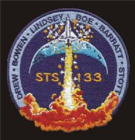 NASA STS-133 Mission Patch (with Stephen Bowen)